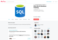 http://www.meetup.com/Akron-SQL-Database-Professionals-Meetup