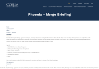 http://www.corumgroup.com/Events/phoenix-merge-briefing-0