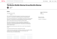 http://www.meetup.com/mysqlbos/events/247667009/