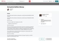 http://www.meetup.com/StartupTech-Unleashed-Buffalo-NY/events/rmjhjnywmbzb/