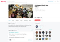 http://www.meetup.com/Coffee-and-Code-East-Valley