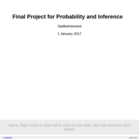 statistics and probability final project Small student projects in an introductory statistics course robert l wardrop department of statistics university of wisconsin-madison july 3, 1999.