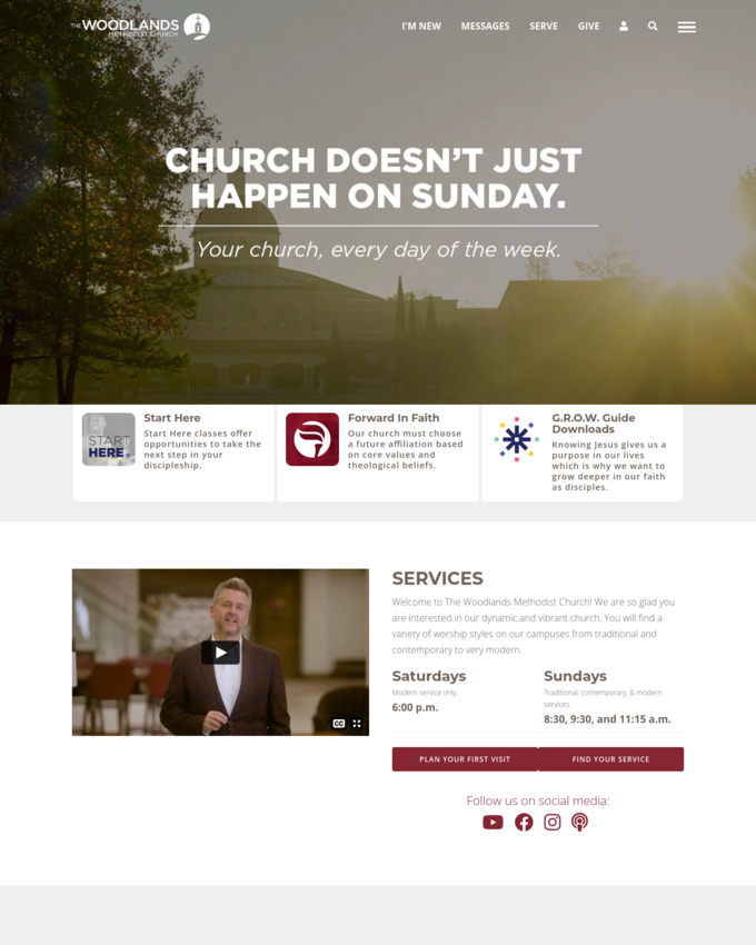 The Woodlands United Methodist Church - thewoodlandsumc.org