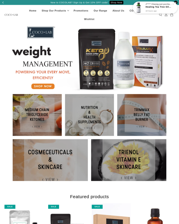 EasyStore merchant | COCOLAB - Bioactive Nutrition and Skincare