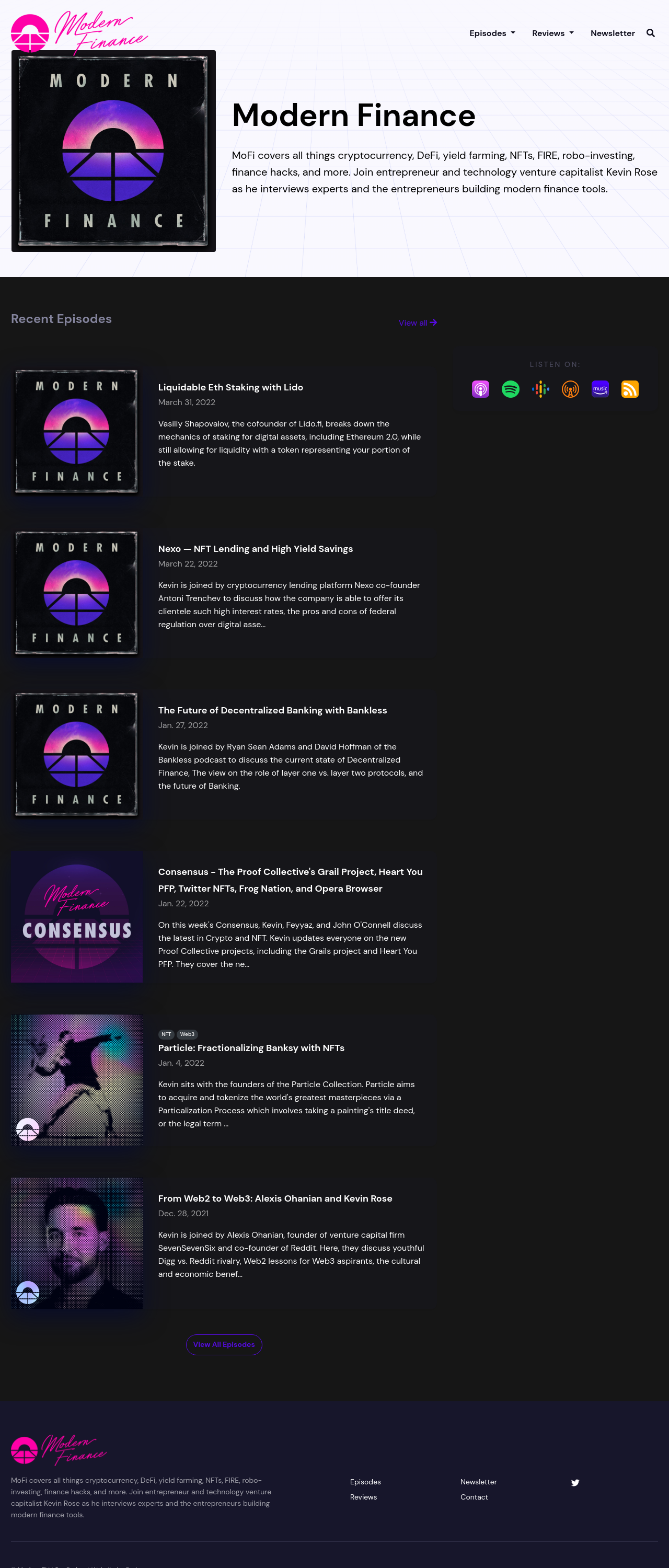 The Crystal podcast website template