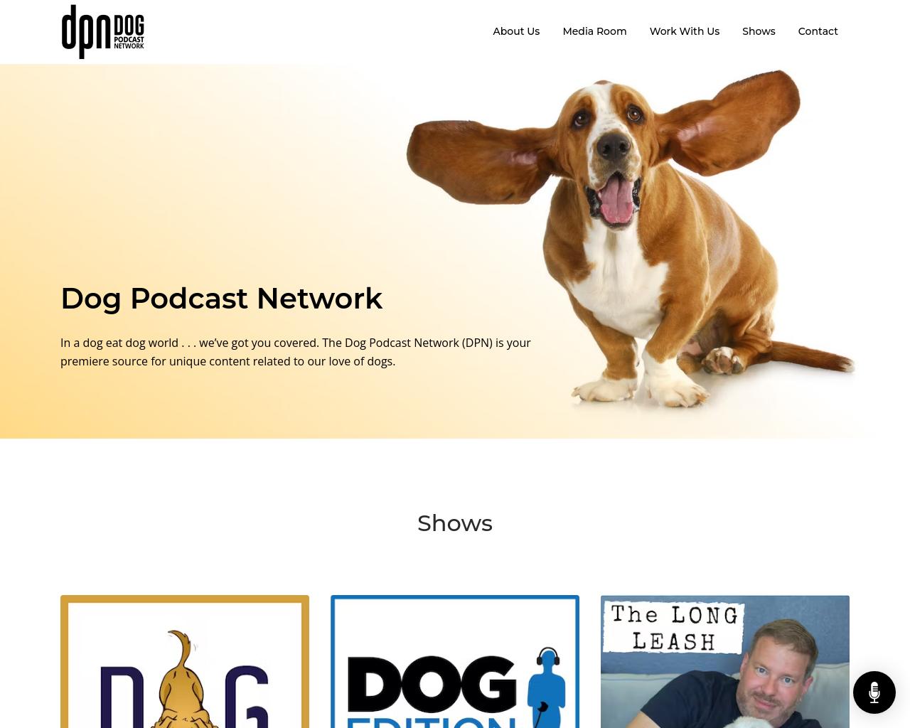 Dog Podcast Network Website