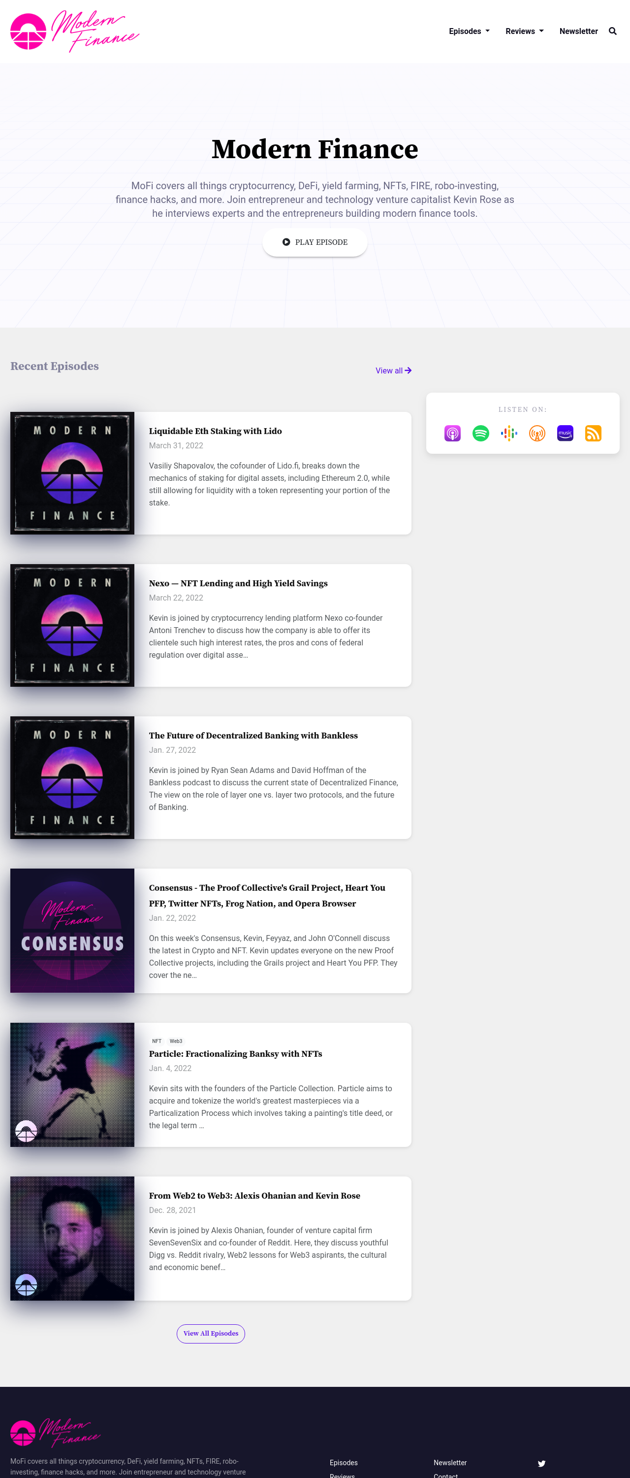 The Sapphire podcast website template