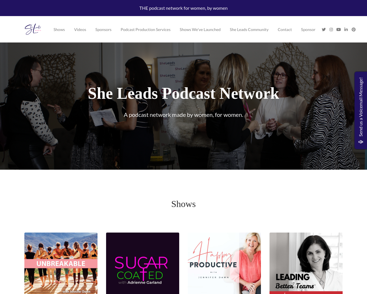 She Leads Podcast Network Website