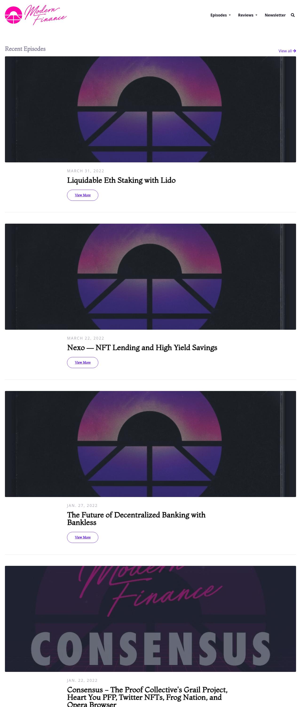 The Garnet podcast website template
