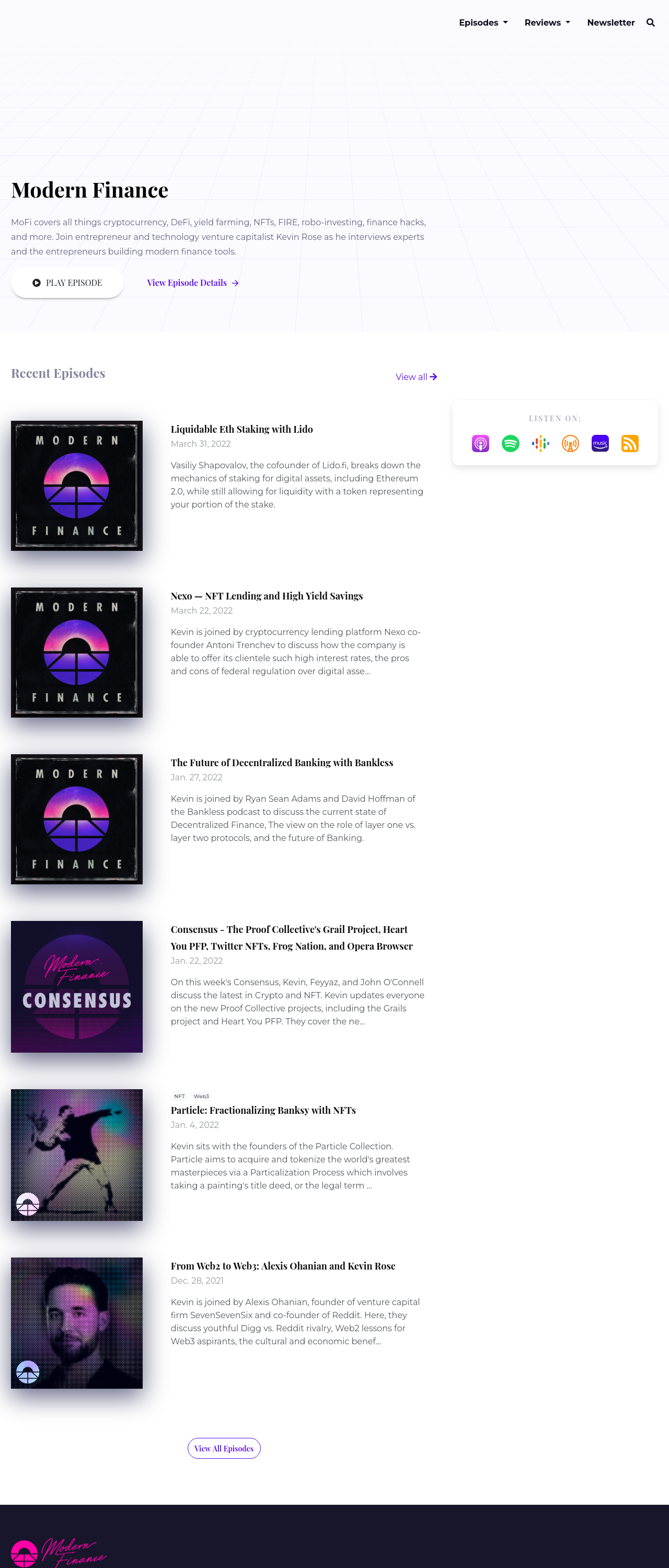 The Emerald podcast website template