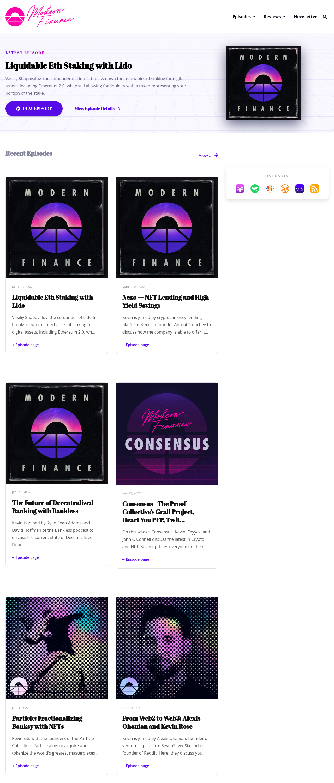The Granite podcast website template