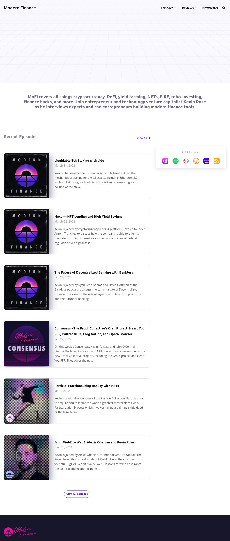 The Jade podcast website template