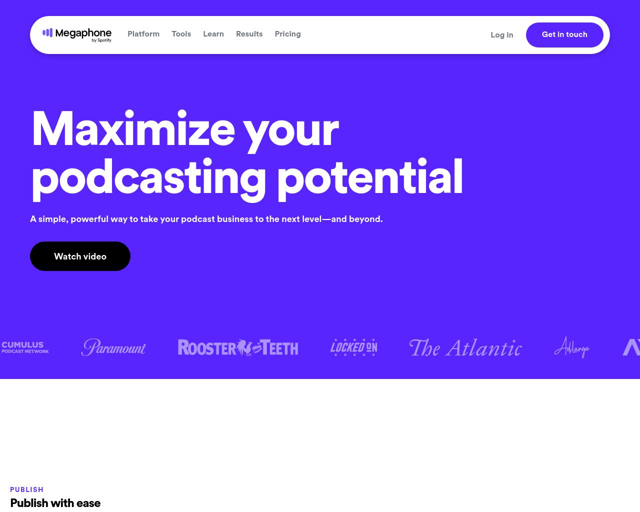 Megaphone homepage