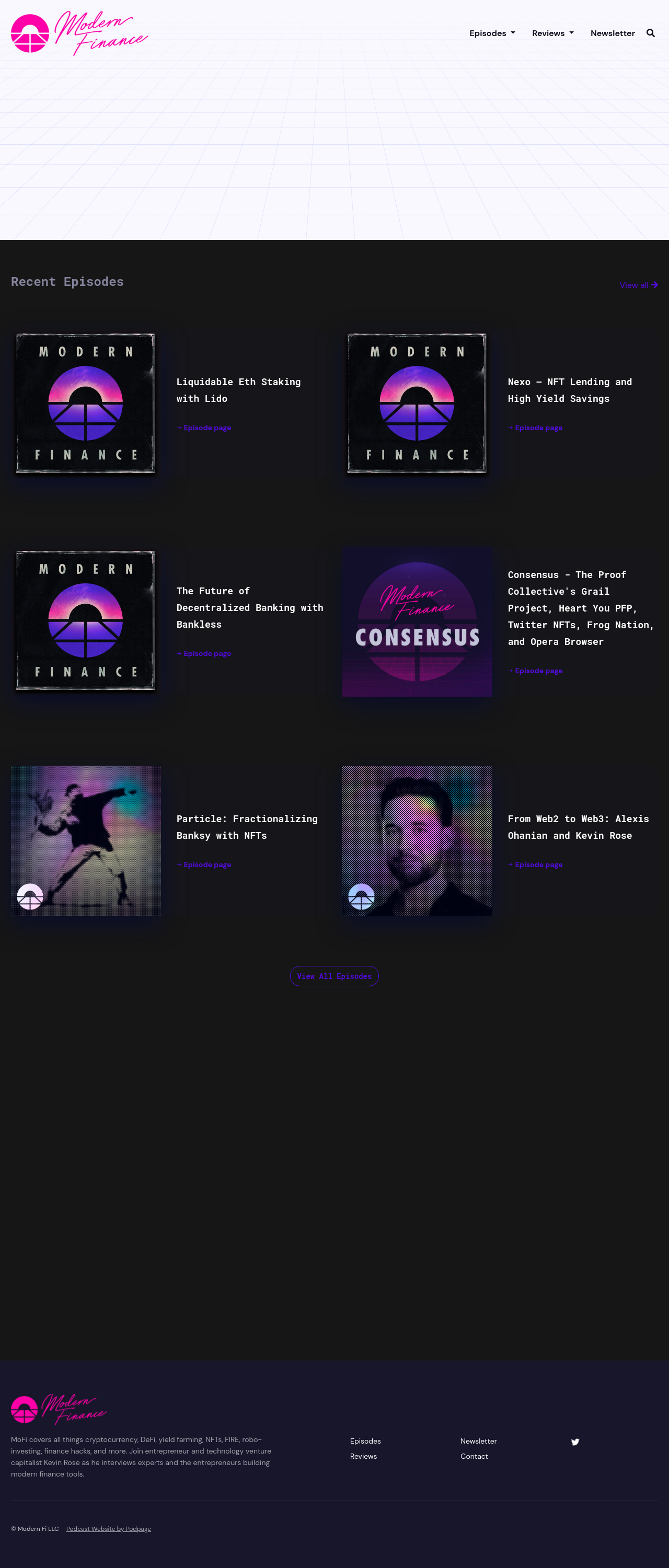 The Carbon podcast website template