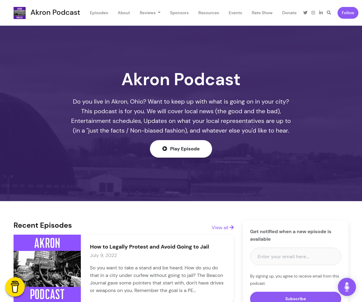 Image of Akron Podcast