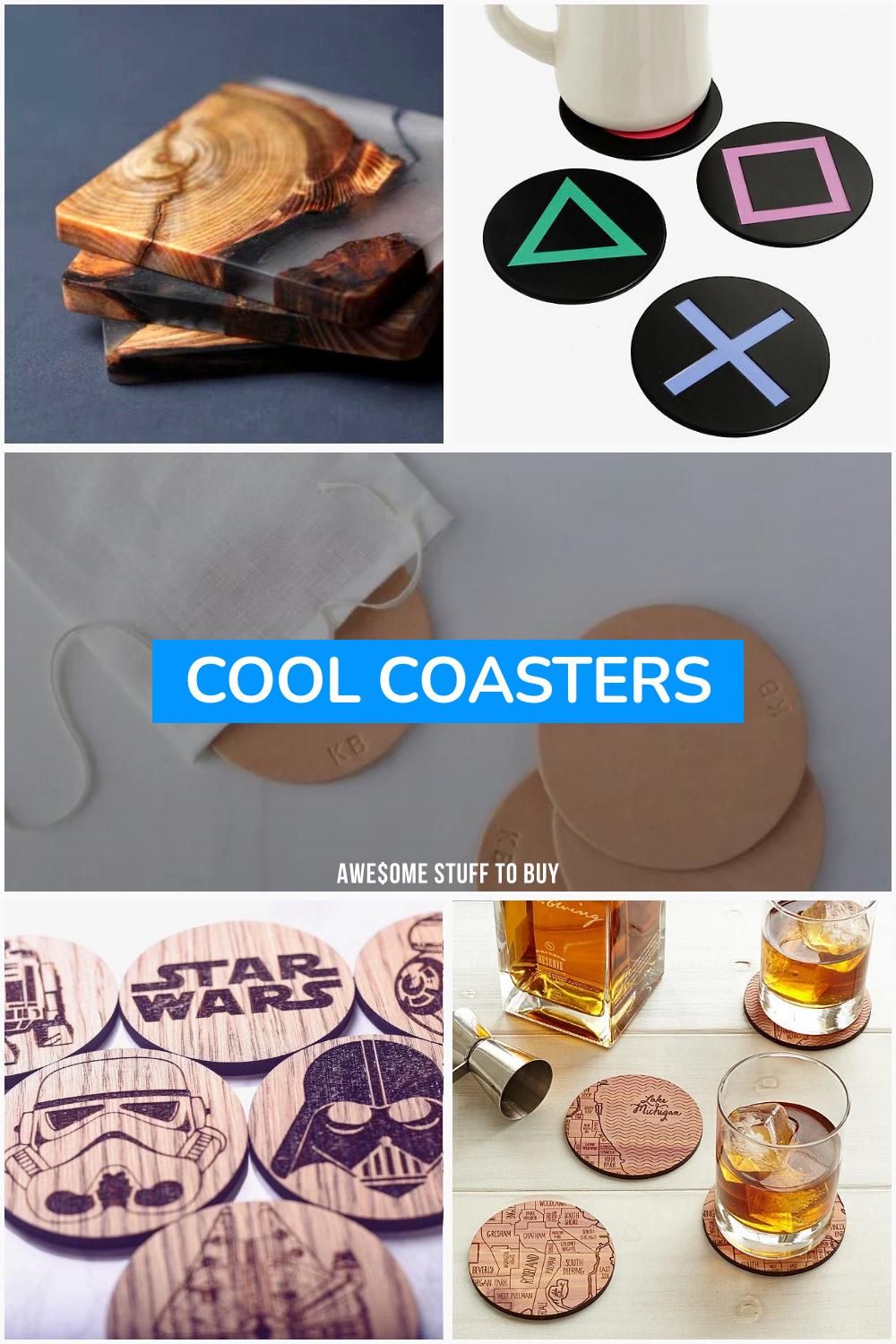 Cool Coasters // Awesome Stuff to Buy