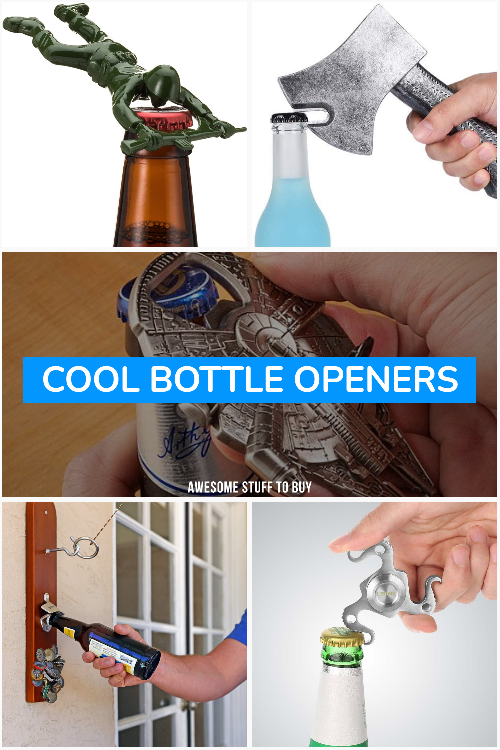 Cool Bottle Openers // Awesome Stuff to Buy