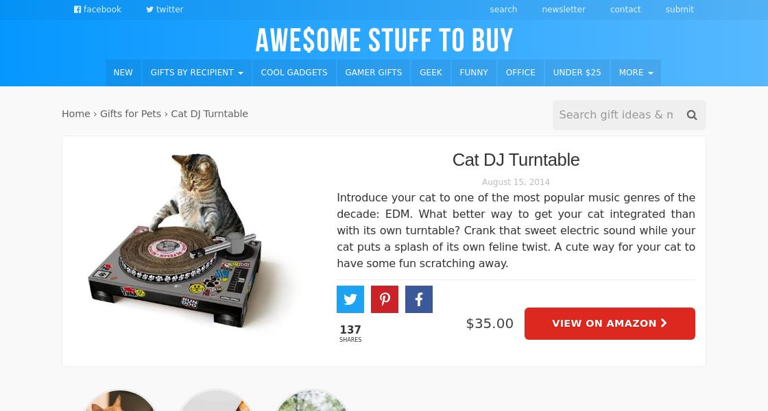 Turntable Cat Scratch Pad