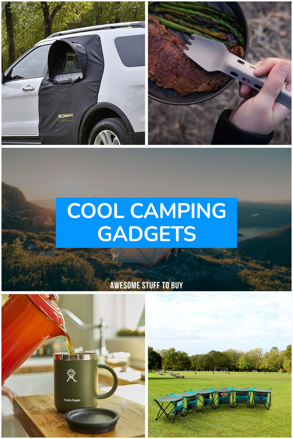 Cool Camping Gadgets // Awesome Stuff to Buy