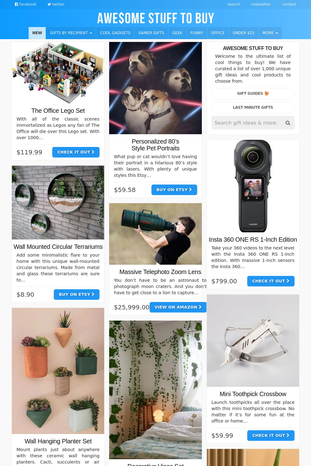 Thinkgeek // Awesome Stuff to Buy