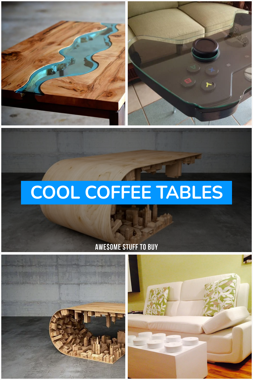 Cool Coffee Tables // Awesome Stuff to Buy