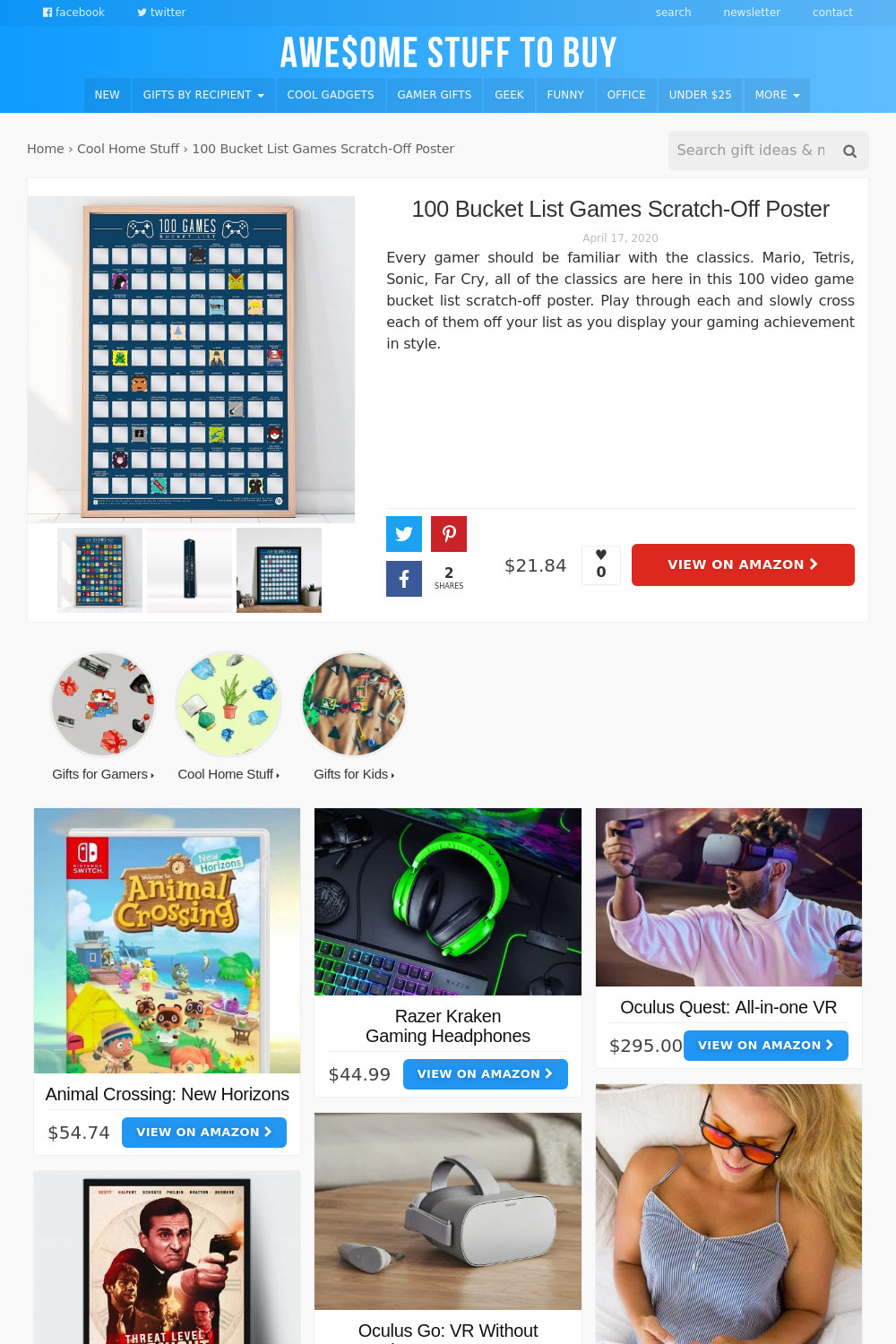 Games // Awesome Stuff to Buy