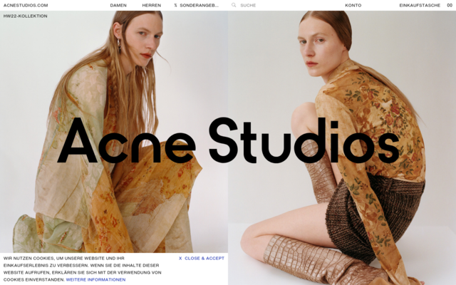 Screenshot of Acnestudios