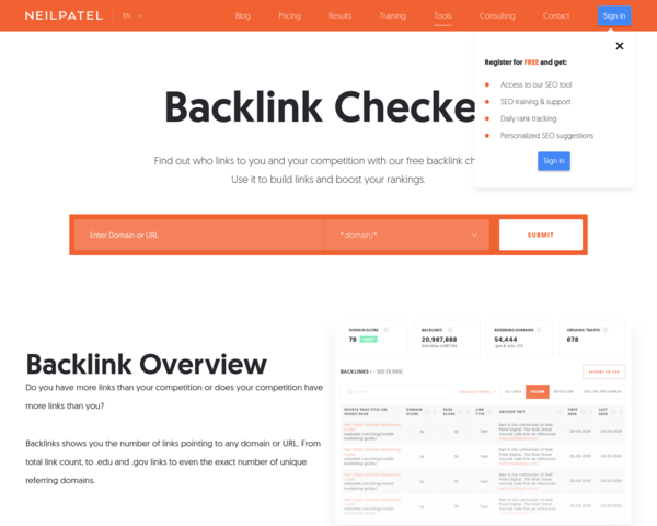 https://neilpatel.com/backlinks/