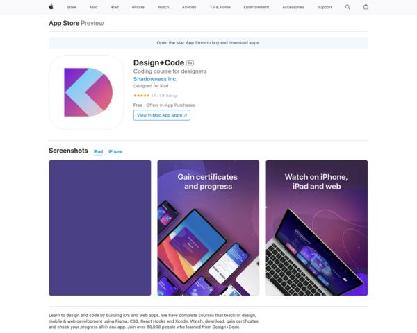 https://apps.apple.com/app/design-code/id1281776514