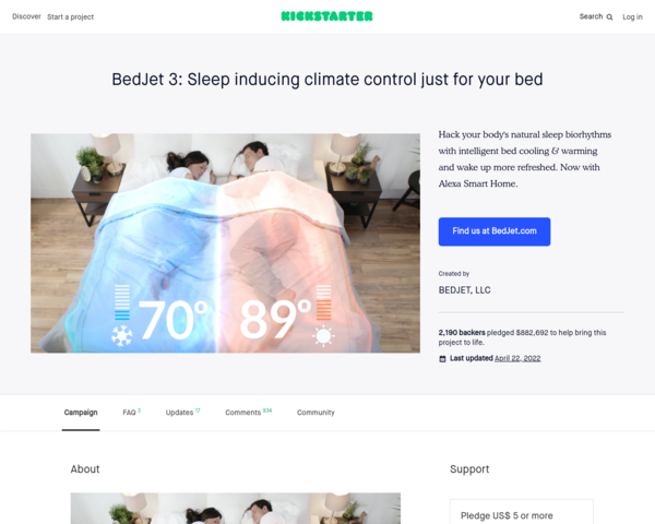 https://www.kickstarter.com/projects/bedjet/bedjet-3-sleep-inducing-climate-control-just-for-y