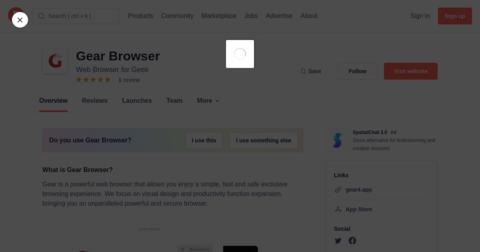 Gear Browser
