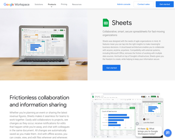 https://gsuite.google.com/products/sheets/