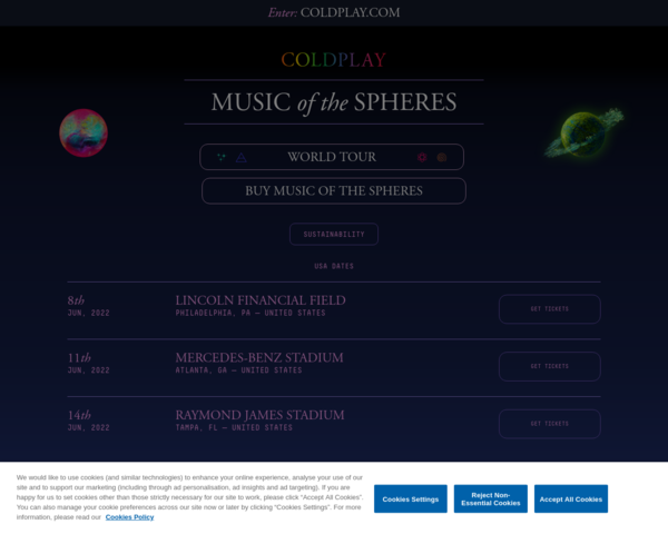http://www.coldplay.com