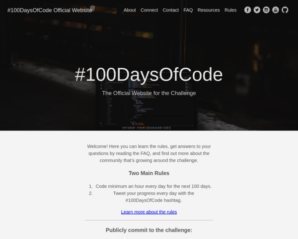 http://100daysofcode.com/
