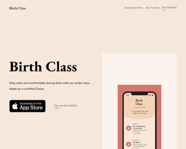 https://birthclass.app/