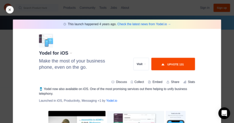 Yodel for iOS