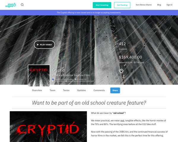 https://www.startengine.com/cryptid