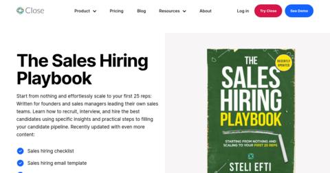 The Sales Hiring Playbook by Steli Efti