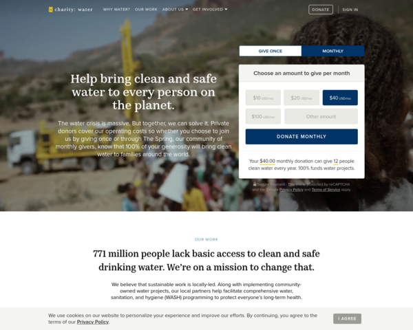 http://www.charitywater.org