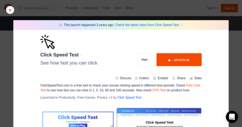 Click Speed Test