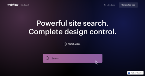 Webflow Site Search