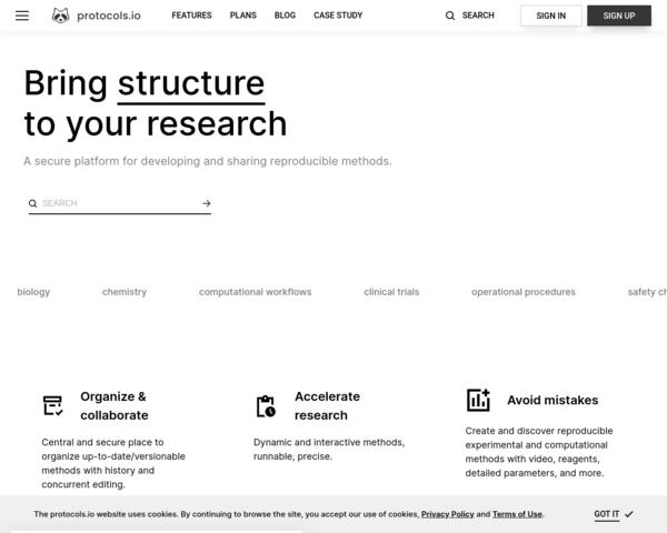 http://protocols.io