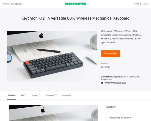 https://www.kickstarter.com/projects/keytron/keychron-k12-a-versatile-60-wireless-mechanical-keyboard