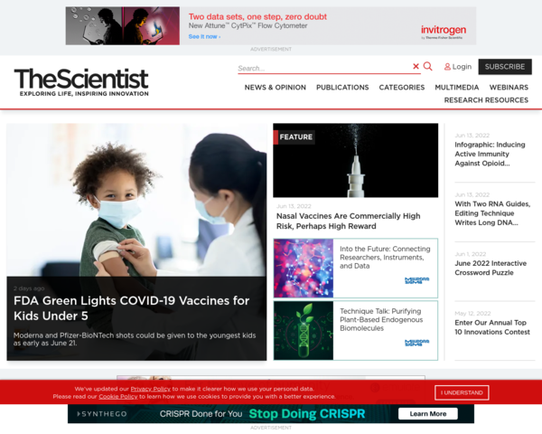 http://www.the-scientist.com