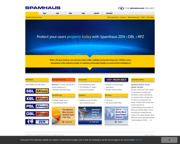 http://www.spamhaus.org