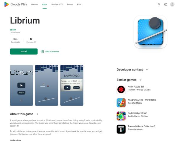 https://play.google.com/store/apps/details?id=com.teltek.librium
