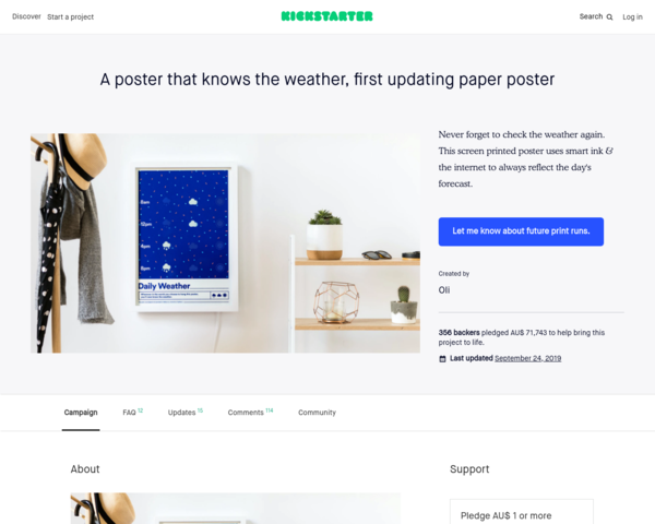 https://www.kickstarter.com/projects/1806793473/a-poster-that-knows-the-weather-first-updating-pap