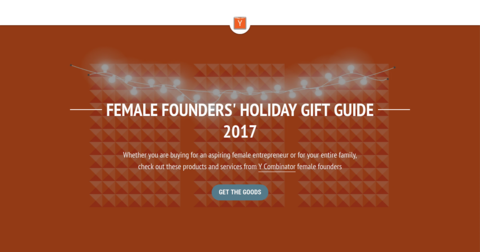 YC Female Founders Holiday Gift Guide 2017