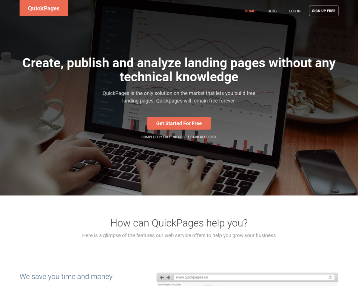 QuickPages: Free forever landing page generator