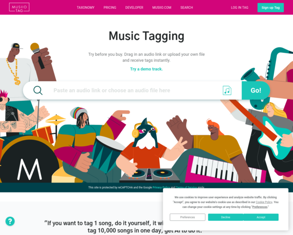 https://musiio.com/home#tag-demo